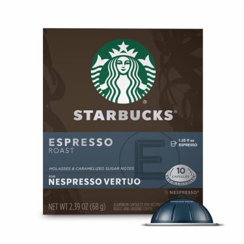 Starbucks Nespresso Espresso Roast Single Serve Coffee Capsules Perspective: front