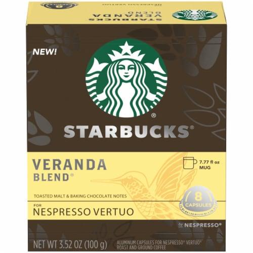 Starbucks Nespresso Veranda Blend Single Serve Coffee Capsules Perspective: front