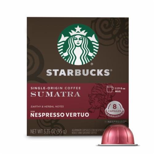 Starbucks Nespresso Sumatra Single Serve Coffee Capsules Perspective: front