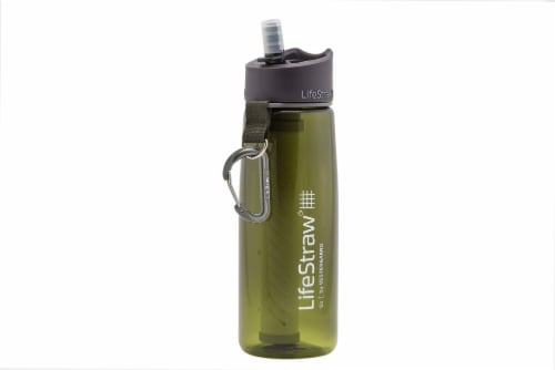 LifeStraw Go Water Bottle - Green Perspective: front