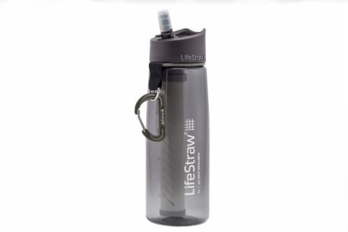 LifeStraw Go Water Bottle - Gray Perspective: front