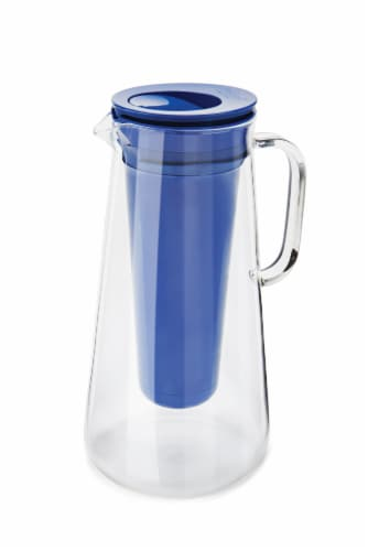 LifeStraw Home Glass Water Filter Pitcher - Cobalt Perspective: front