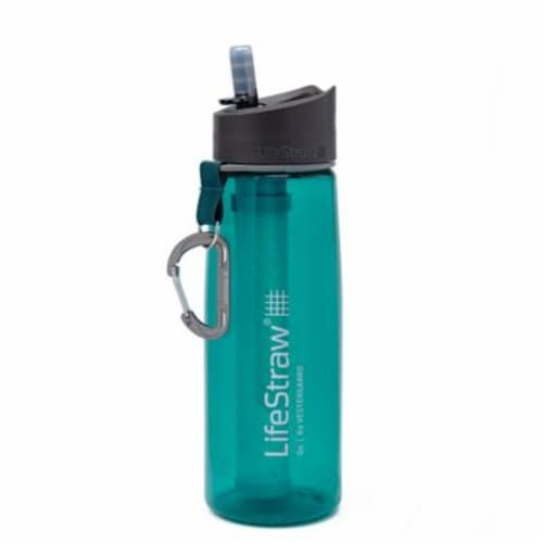 LifeStraw Go Water Bottle - Dark Teal Perspective: front