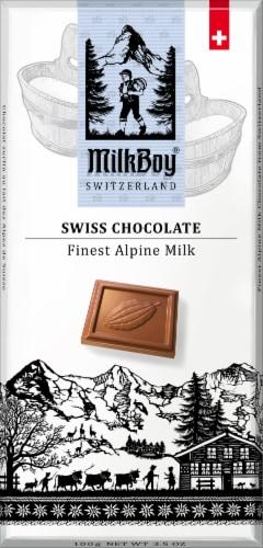 Milkboy Swiss Chocolate Finest Alpine Milk Bar Perspective: front