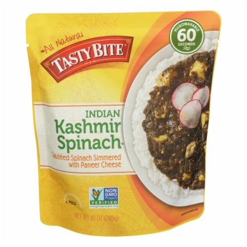Tasty Bite Entrees - Indian Cuisine - Kashmir Spinach - 10 oz - case of 6 Perspective: front