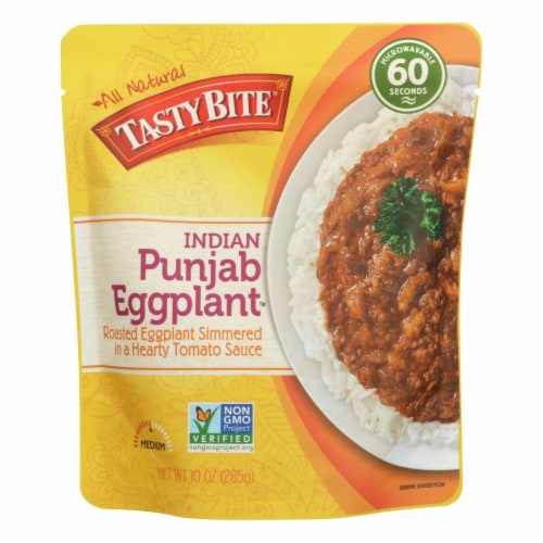Tasty Bite Entree - Indian Cuisine - Punjab Eggplant - 10 oz - case of 6 Perspective: front