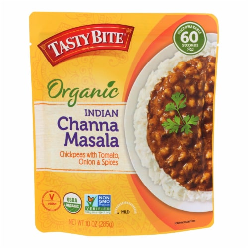 Tasty Bite Entree - Indian Cuisine - Channa Masala - 10 oz - case of 6 Perspective: front