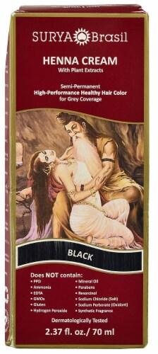 Surya Brasil Black Henna Cream Semi-Permanent Hair Color Perspective: front