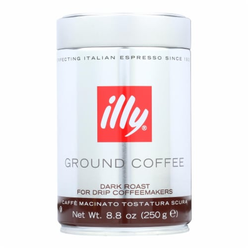 Illy Caffe Coffee Coffee - Drip - Ground - Dark Roast - 8.8 oz - case of 6 Perspective: front