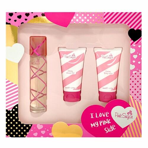Pink Sugar Fragrance Gift Set 3 Pack Perspective: front