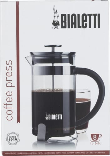 Bialetti Simplicity French Coffee Press - Black Perspective: front
