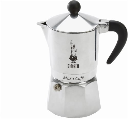 Bialetti Moka Café Coffee Maker - Silver/Black Perspective: front