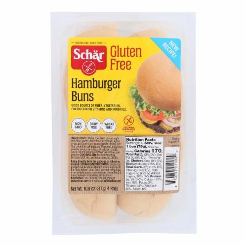 Schar Hamburger Buns - Case of 6 - 10.6 oz. Perspective: front