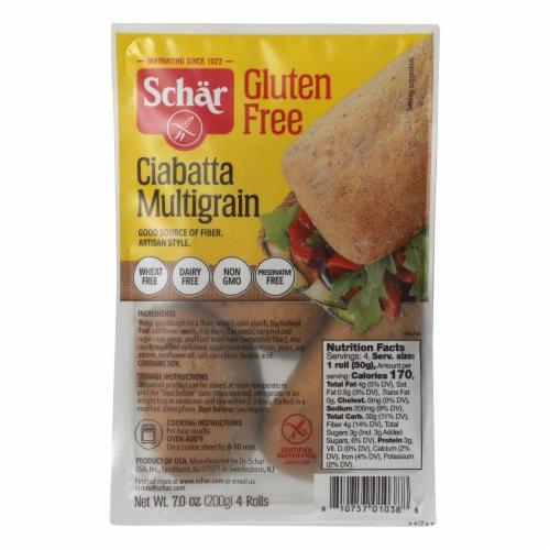 Schar Multigrain Ciabatta Rolls Gluten Free - Case of 6 - 7 oz. Perspective: front