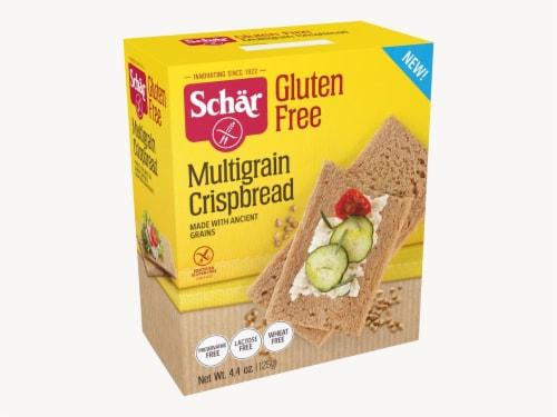 Schar Multigrain Crispbread Gluten Free, 4.4oz (Pack of 6) Perspective: front