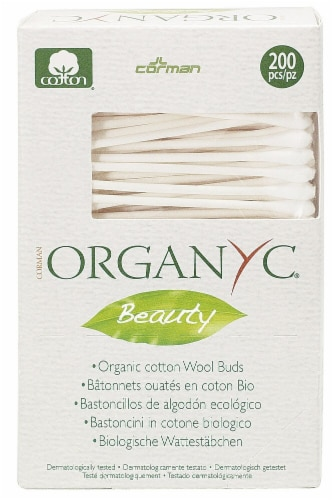 Organyc Beauty Cotton Swabs Perspective: front