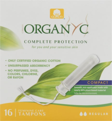 Organyc Regular Bio Based Compact Tampons Perspective: front