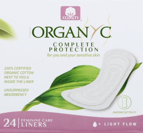 Organyc Ultra Thin Pantyliner Perspective: front