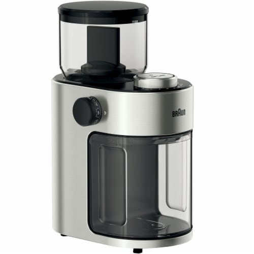 Braun Stainless Steel Coffee Grinder Perspective: front
