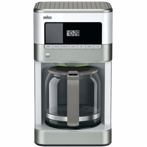 Braun BrewSense Drip Coffee Maker - Stainless Steel/White Perspective: front