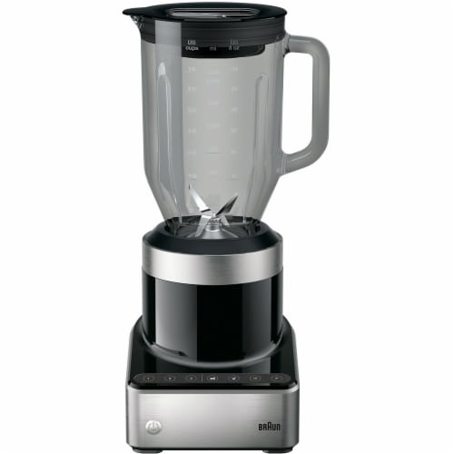 Braun PureMix Power Countertop Blender with Glass Blending Pitcher - Stainless Steel/Black Perspective: front