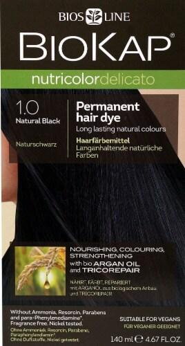 Biokap  Nutricolor Delicato Permanent Hair Dye 1.0 Natural Black Perspective: front