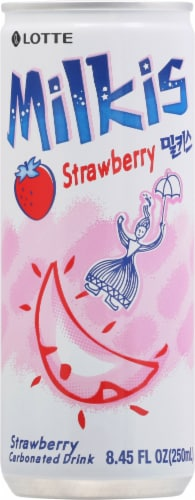 Lotte Milkis Strawberry Soda Perspective: front