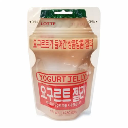 Lotte Yogurt Jelly Candy Perspective: front