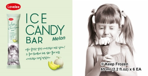 Lavelee Melon Ice Candy Bar Perspective: front