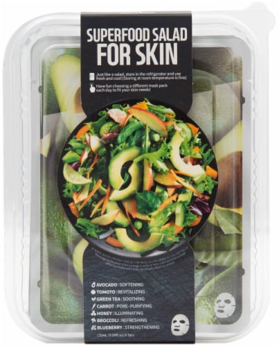Farmskin Superfood Avocado Salad Face Mask Perspective: front