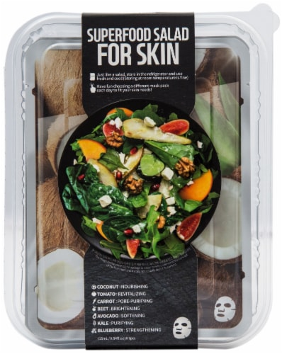Farmskin Superfood Coconut Salad Face Mask Perspective: front
