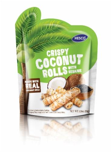 Hesco Crispy Coconut Rolls with Sesame Perspective: front
