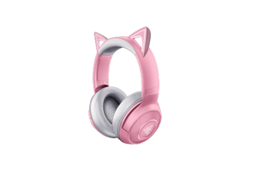 Razer Kraken Bluetooth Kitty Edition Headphones Perspective: front