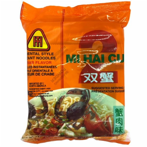 Mi Hai To Crab Flavored Instant Noodles Perspective: front