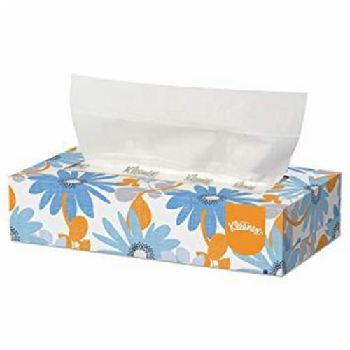 Facial Tissue, Flat Tissue Box, 100 Tissues/Box, Assorted Designs Kleenex Professional Perspective: front