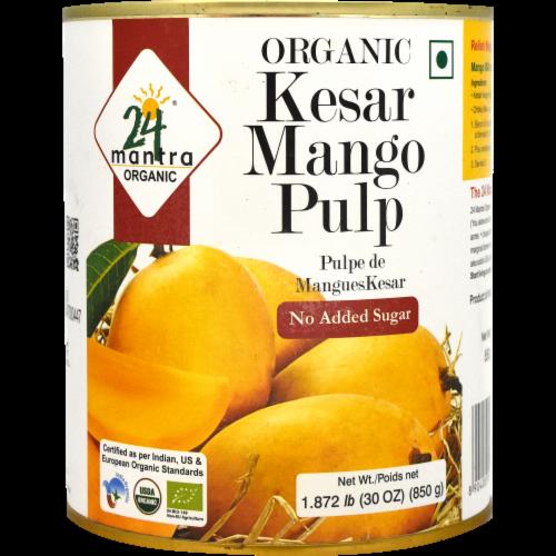 24 Mantra Organic Kesar Mango Pulp Perspective: front