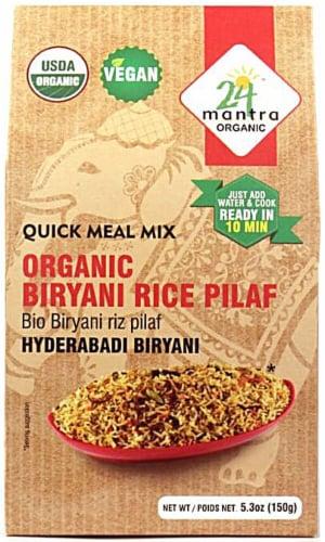 24 Mantra Organic Biryani Rice Pilaf Perspective: front