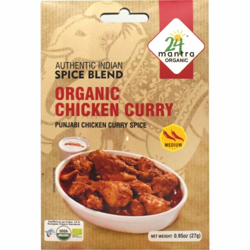24 Mantra Organic® Medium Chicken Curry Spice Blend Perspective: front