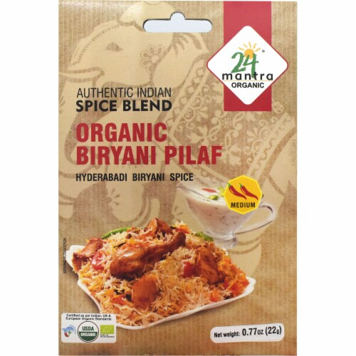 24 Mantra Organic® Authentic Indian Spice Blend Biryani Pilaf Perspective: front