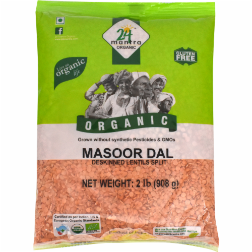 24 Mantra Organic Masoor Dal Perspective: front
