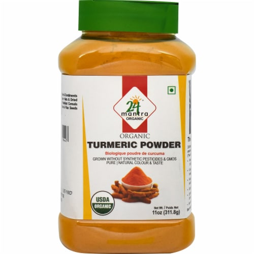 24 Mantra Organic Turmeric Powder Perspective: front