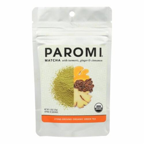 Paromi Tea - Matcha Tumeric Ginger Cinnamon - Case of 6 -1.23 OZ Perspective: front