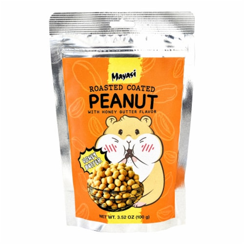 Mayasi Honey Butter Flavor Roasted Coated Peanuts Perspective: front