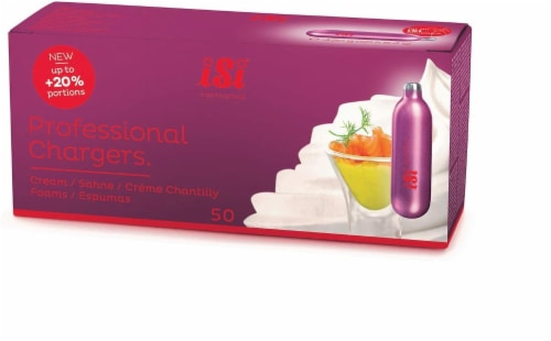 iSi N2O Professional Cream Chargers Perspective: front