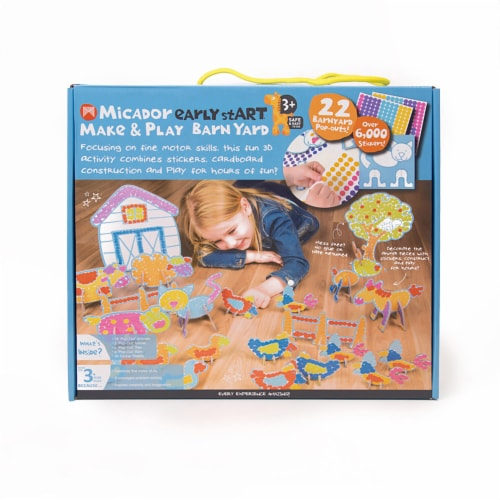 Micador Early Start Make & Play Barnyard Set with Stickers Perspective: front