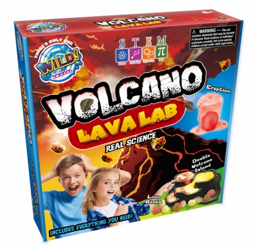 WILD! Science Volcano Lava Lab Kit Perspective: front
