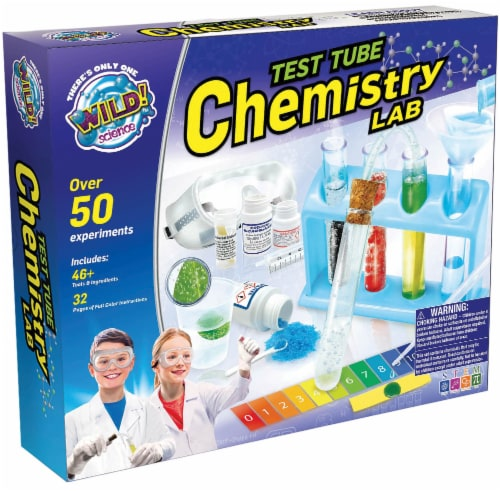 WILD! Science Test Tube Chemistry Lab Kit Perspective: front