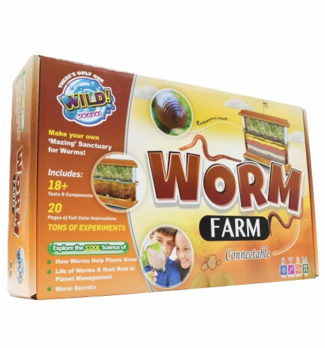 WILD! Science - Worm Farm Kit Perspective: front
