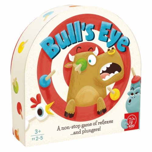 Roo Games Bull's Eye Animal Matching Game Perspective: front
