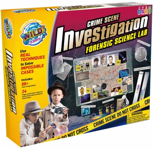 WILD! Science Crime Scene Investigation Forensic Science Lab Kit Perspective: front